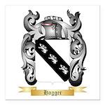 Hagger Square Car Magnet 3