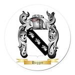 Hagger Round Car Magnet