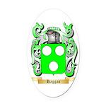 Haggas Oval Car Magnet
