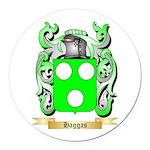 Haggas Round Car Magnet