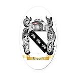 Haggard Oval Car Magnet