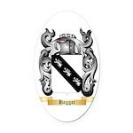 Haggar Oval Car Magnet