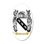 Haggar 35x21 Oval Wall Decal