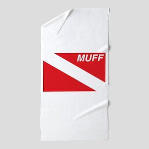 Muff Diver Beach Towel