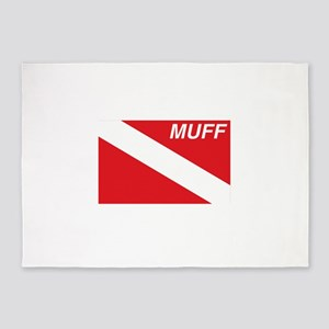 Muff Diver 5'x7'Area Rug