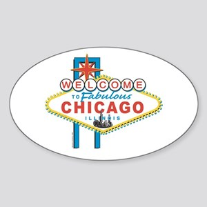 Fabulous Chicago Oval Sticker
