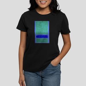 ROTHKO SHADES OF BLUE GREEN Women's Dark T-Shirt
