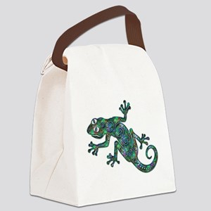 Decorative Chameleon Canvas Lunch Bag