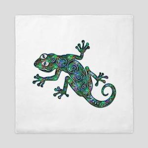 Decorative Chameleon Queen Duvet