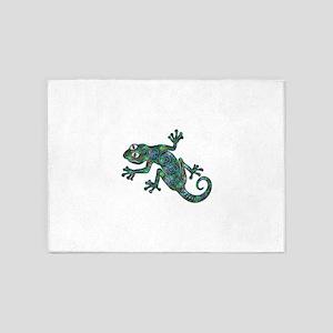 Decorative Chameleon 5'x7'Area Rug