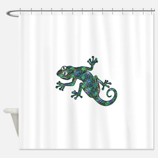 Decorative Chameleon Shower Curtain