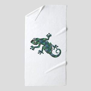 Decorative Chameleon Beach Towel