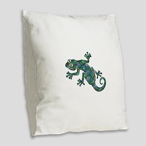 Decorative Chameleon Burlap Throw Pillow
