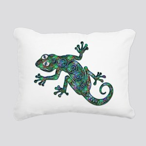 Decorative Chameleon Rectangular Canvas Pillow