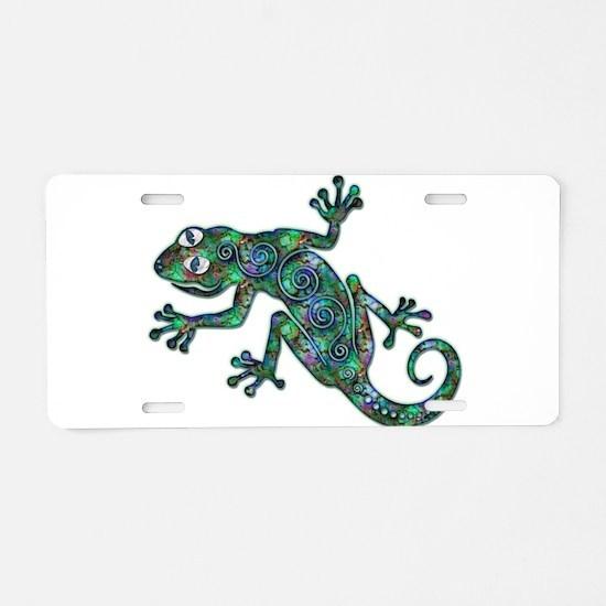 Decorative Chameleon Aluminum License Plate