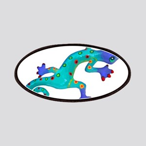 Turquoise Lizard with Red Toes Patches
