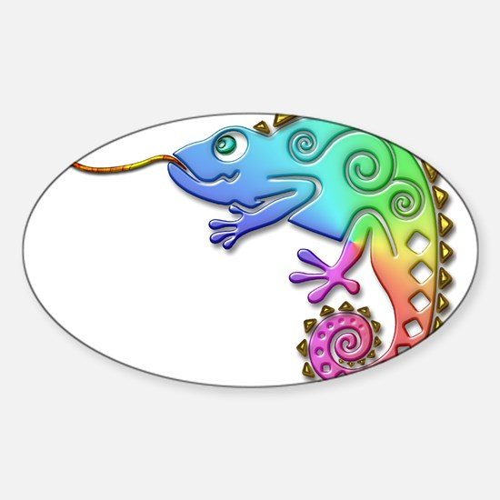 Cool Colored Chameleon Decal