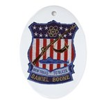 PRD Daniel Boone Patch Oval Ornament