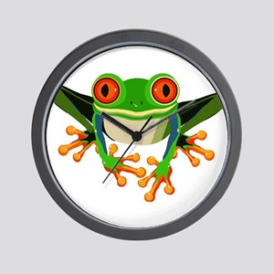 Colorful Tree Frog Wall Clock