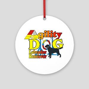 Labrador Retriever Agility Ornament (Round)