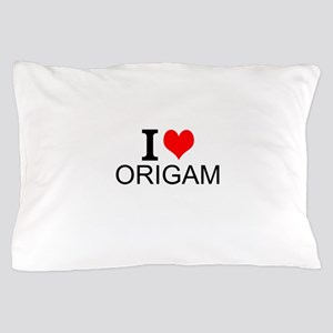 I Love Origami Pillow Case