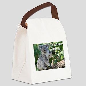 I'm so cute, cuddle me: koala Canvas Lunch Bag