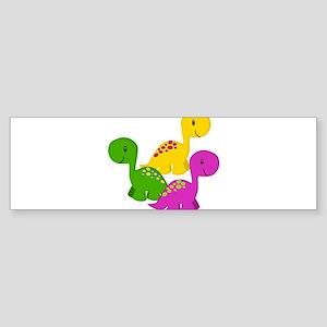 Baby Dino Triplets Bumper Sticker