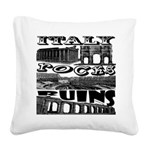 Italy Rocks Ruins Square Canvas Pillow