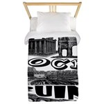 Italy Rocks Ruins Twin Duvet Cover