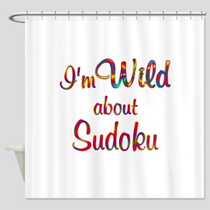 Wild About Sudoku Shower Curtain