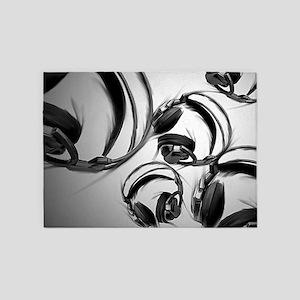 Headphones - Gray 5'x7'Area Rug
