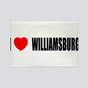 I Love Williamsburg Rectangle Magnet