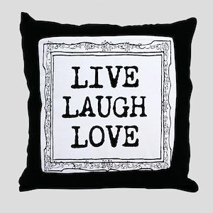 Cute Live Laugh Love Throw Pillow