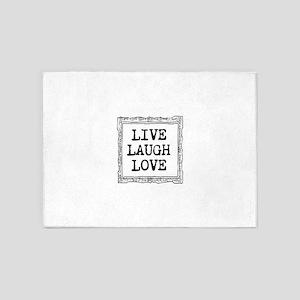 Live laugh love 5'x7'Area Rug