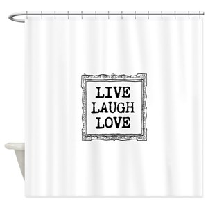 Live Laugh Love Shower Curtains