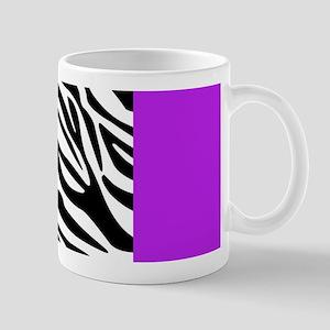 Purple Leopard and Zebra Animal Print Mug