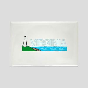 Virginia Rectangle Magnet