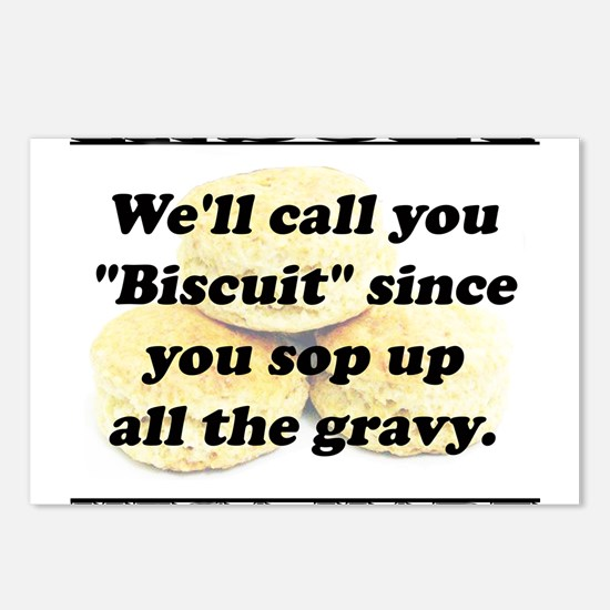 Well Call You Biscuit Postcards (Package of 8)