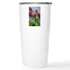 Red Tulips Bouquet Travel Mug