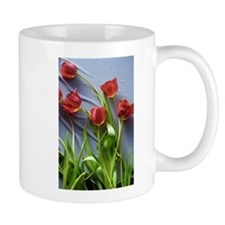 Red Tulips Bouquet Mugs