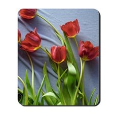 Red Tulips Bouquet Mousepad