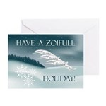 Borzoi Winter Holiday 10pk Greeting Cards