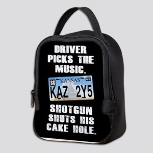 SUPERNATURAL DRIVER PICKS MUSIC Neoprene Lunch Bag