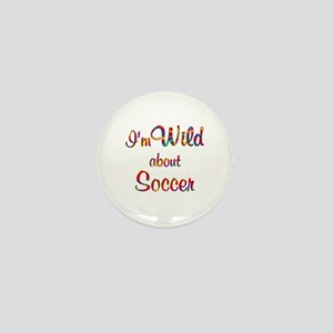 Wild About Soccer Mini Button