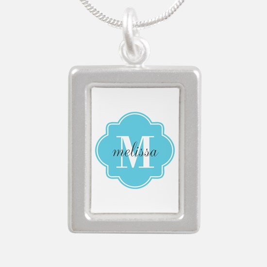 Turquoise Custom Persona Silver Portrait Necklace