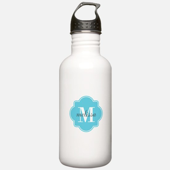 Turquoise Custom Perso Sports Water Bottle