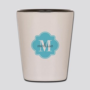 Turquoise Custom Personalized Monogram Shot Glass