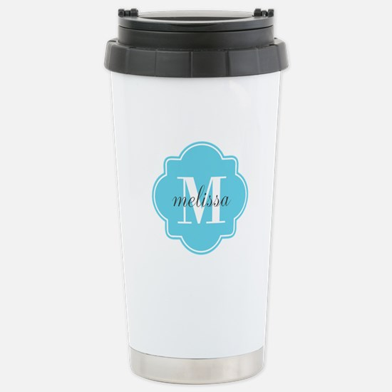 Turquoise Custom Person Stainless Steel Travel Mug