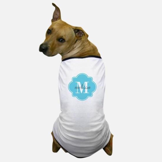 Turquoise Custom Personalized Monogram Dog T-Shirt