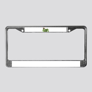 Cool Snake in Shades License Plate Frame